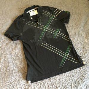 Black American Eagle Polo Vintage Fit